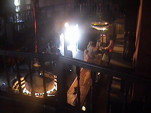 Marilyn and Cecilia Hargrave's former view from stageGuests get a beer at the bar, view from Calico Saloon balcony, Knott's Berry Farm  2011.08.07 14:26