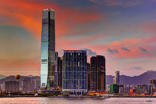 Dusk over Union Square & ICC / West Kowloon / Hong Kong