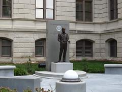 Monument to Jimmy Carter, Georgia State Capitol, Atlanta, Georgia