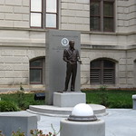 Monument to Jimmy Carter, Georgia State Capitol, Atlanta, Georgia