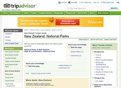 New Zealand National Parks @ TripAdvisor 09.2011
