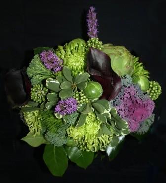 Bouquet di verdure per decorare piatti e la casa
