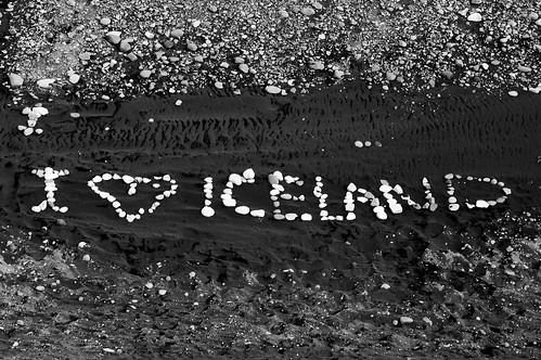 I heart Iceland (B&W)