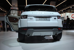 city car(0.0), automobile(1.0), automotive exterior(1.0), range rover(1.0), sport utility vehicle(1.0), wheel(1.0), vehicle(1.0), automotive design(1.0), auto show(1.0), range rover evoque(1.0), bumper(1.0), land vehicle(1.0), luxury vehicle(1.0),