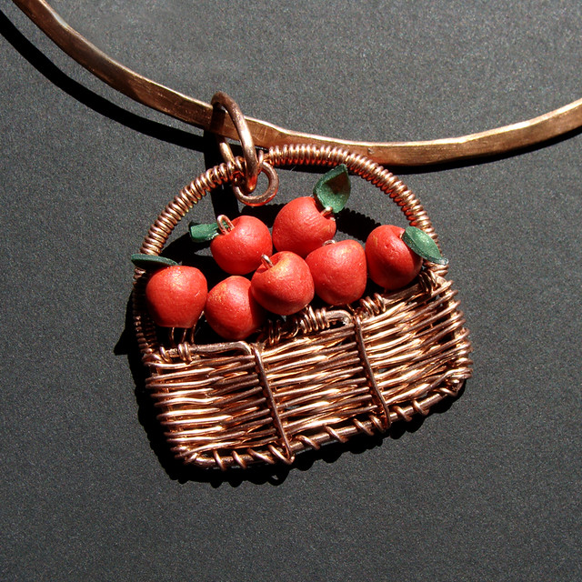 Apple Basket Pendant