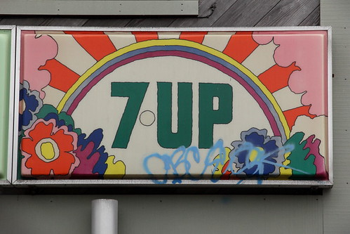 Peter Max-designed 7-Up sign, San Francisco