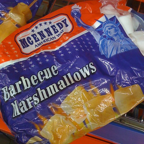 Barbecue marshmallows in Berlin.