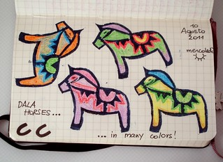 Coloured Dala horses