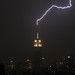 Zzzzzzt! Empire State Building getting zapped with lightning during last night's thunderstorm by NYCisMyMuse