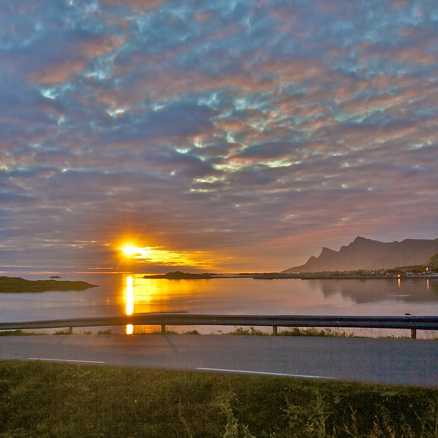 "(1495) Norway / Lofoten / ""Midnight sun"""