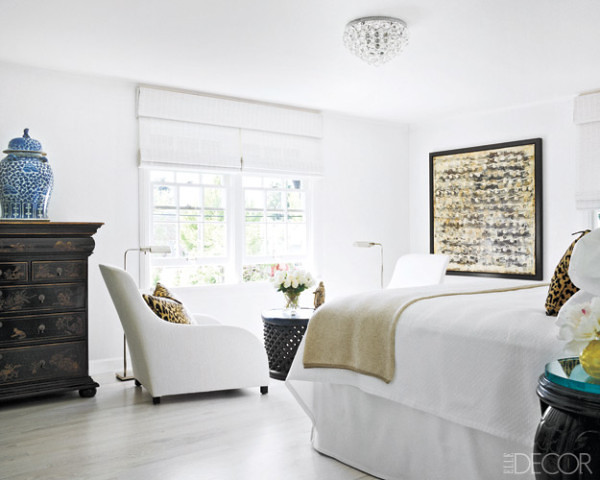 Ted tuttle john granen elle decor white vintage traditional rustic eclectic modern bedroom - Elle decor bedrooms ...