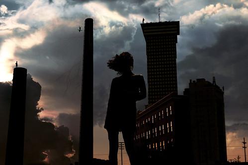 無料写真素材, グラフィック, フォトレタッチ, 都市, 暗雲, シルエット