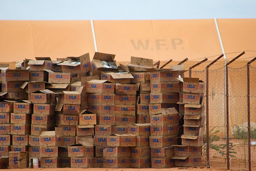 USAID boxes of food