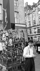 Edinburgh Festival 2011 B&W The Performer