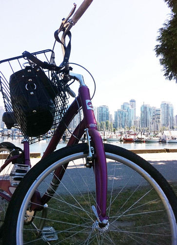 Biking along Seawall/Stanley park, Vancouver. One of the most gorgeous waterfronts.