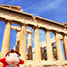 Ponyo and The Parthenon at Acropolis of Athens, Greece