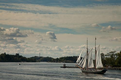 Sailing boat in Stockholm's archipelago
