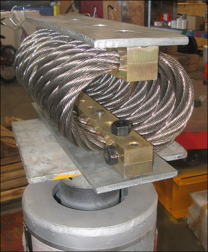 F-type Variable Spring Support with a Stainless Steel Wire Rope Isolator