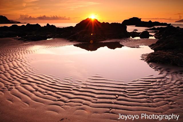 日出沙痕 宜蘭外澳