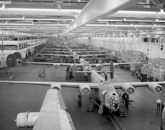 Assembly Line At Willow Run 1942 Flickr Photo Sharing