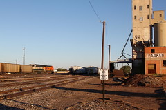 Abandoned grain elevator, Wichita Falls rail yard
