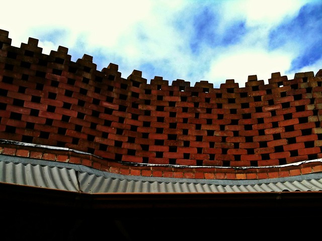 Honeycomb Brick Work : Honeycomb brick wall interesting topping of the
