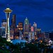 Seattle Kerry Park Blue Hour