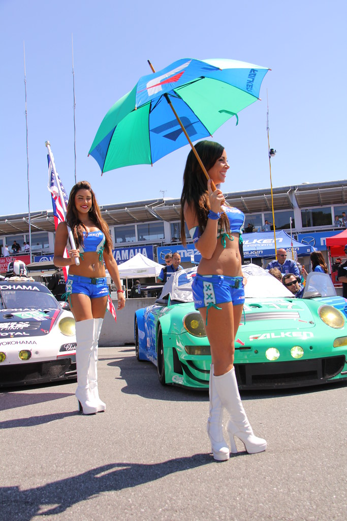 ALMS Grid Girl sexy Beautiful Hot American Le Mans IMSA Li ...