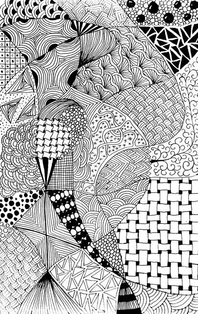 Zentangle #57 - Bored #7