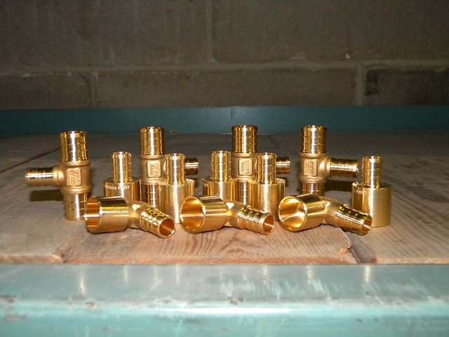 Different type of pex tubing fittings flickr photo for Types of pex