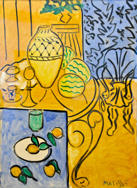 Henri matisse interieur jaune et bleu 1946 at centre for Interieur rouge matisse