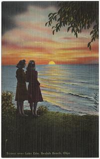 Sunset over Lake Erie, Beulah Beach, Ohio
