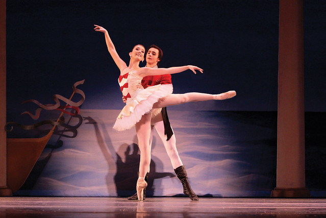 Allyssa Bross & Christopher Revels as Marie & her Prince from Los Angeles Ballet's The Nutcracker