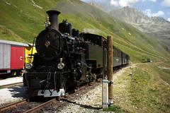 Steam Train Furka Mountain Passage
