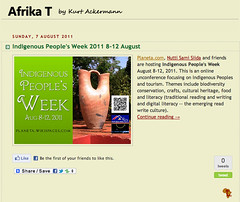 Afrika T Blog about Indigenous People's Week