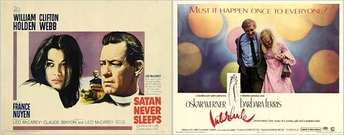 74-0012 Timi Yuro sang the title tracks on the 1962 film Satan Never Sleeps and the 1968 film Interlude (movie posters)
