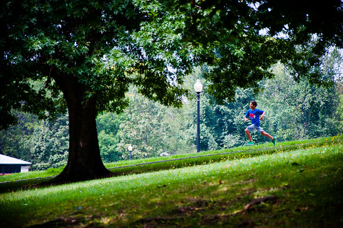 Running Boy @ Boston Common