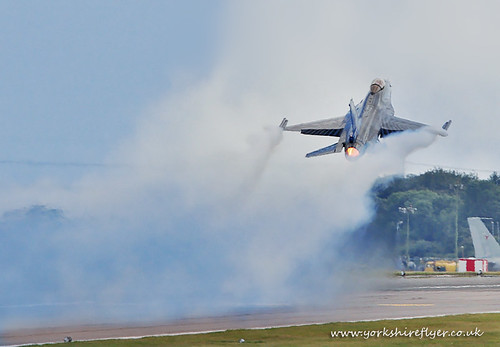 Belgium F16 Take-off - Waddington 2011