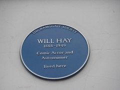 Photo of Will Hay blue plaque