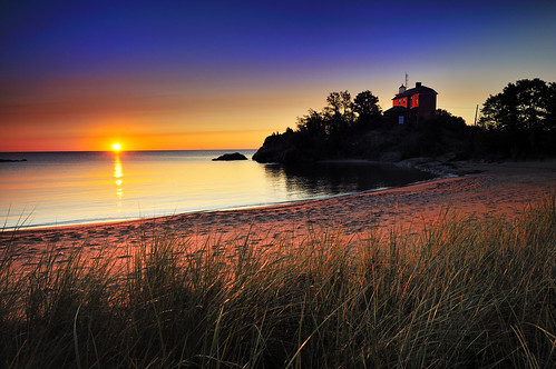 """McCarty's Cove""  Marquette Harbor Lighthouse - Marquette , Michigan"