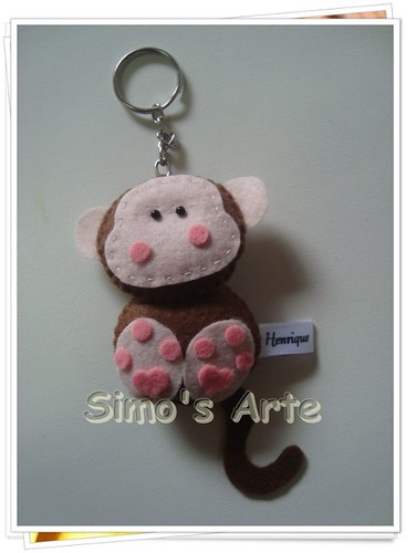 Chaveiro macaco by Artes by Simo's®