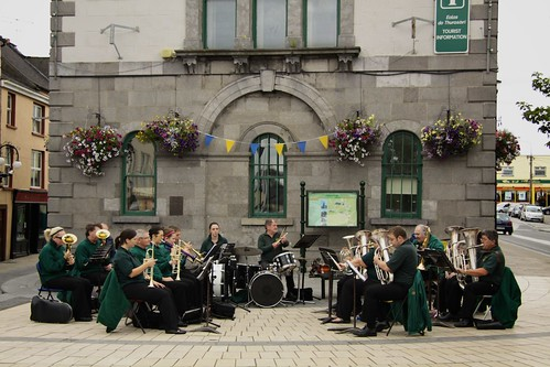 Band in Cashel town centre