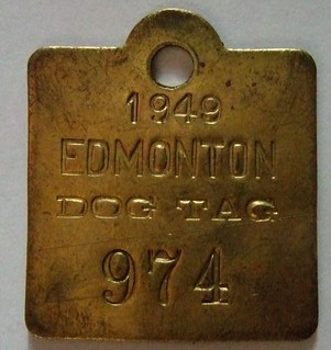 EDMONTON 1949 ---DOG TAG