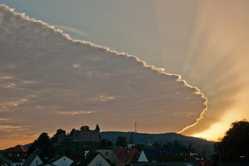 sunset castle landscape deutschland dawn sonnenuntergang hessen landschaft burg beginner efs1855 anfänger odenwald einsteiger lindenfels