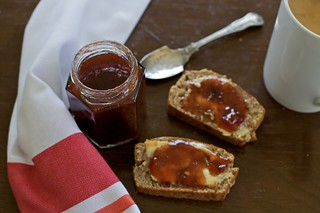 Damson jam with port