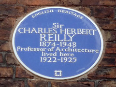 Photo of Charles Herbert Reilly blue plaque