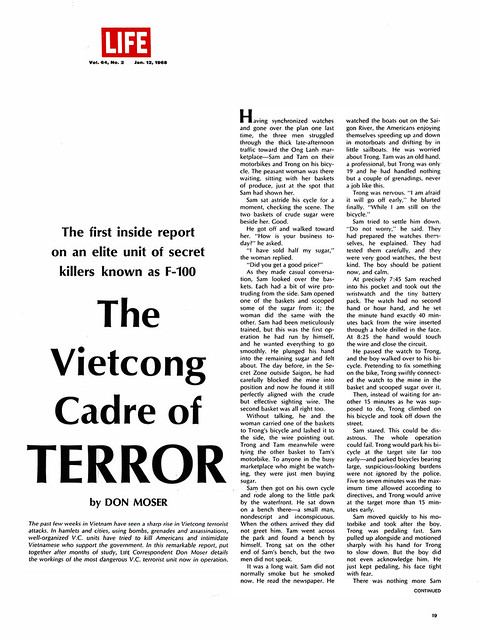 LIFE Jan 12, 1968 - The Vietcong Cadre of Terror (1)