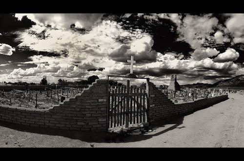 blackandwhite bw newmexico cemetary pueblo taos taospueblo