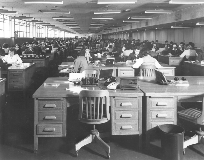 Payroll Department Ford Motor Co Willow Run Bomber Plant