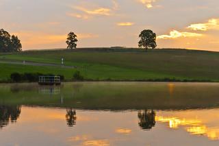 sunrise at the lake